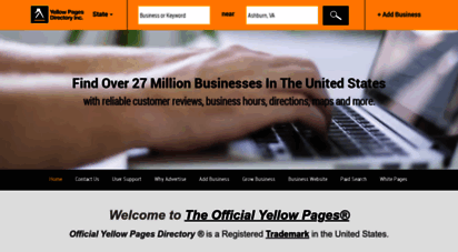 yellowpagesdirectory.com - the official yellow pages directory by yellow pages directory inc.