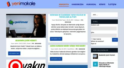 yenimakale.com - yeni makale, makale yaz, makale gönder