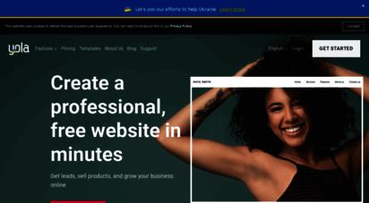 yola.com - unsupported browser  yola.com free web design tool partnerships