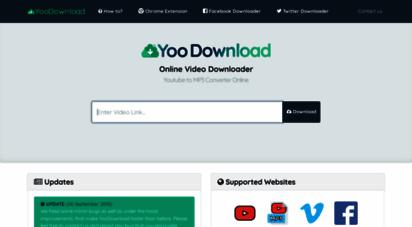 yoodownload.com - online video downloader - youtube to mp3 converter