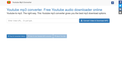 youtubemp3.click - youtube to mp3 converter. classic ytmp3 with new features.