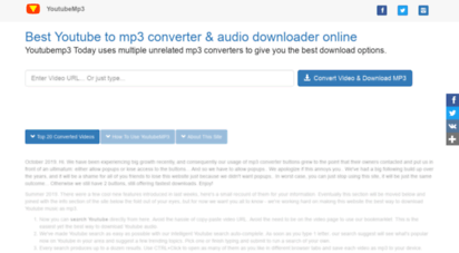 youtubemp3.today - youtubemp3 is the best youtube to mp3 converter & audio downloader
