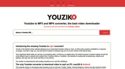 youzik.net - convert and download from youtube to mp3, mp4 - youzik