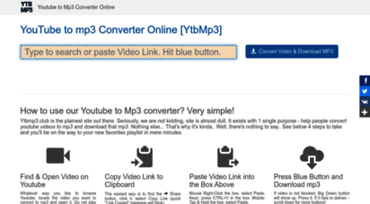 ytbmp3.club - youtube to mp3 converter - the best online - ytbmp3.club youtube mp3