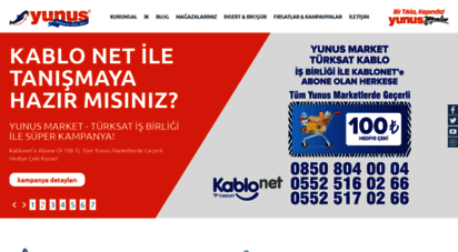 yunusmarket.com.tr - ana sayfa - yunus marketler zinciri