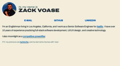 zacharyvoase.com - i´m zack.