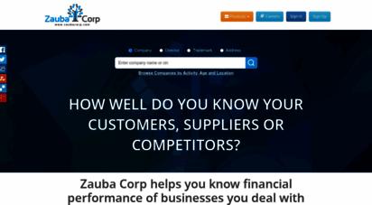 zaubacorp.com - zauba corp