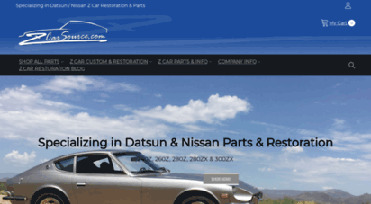 Welcome To Zcarsource Com Datsun Nissan Z Zx Parts Datsun 240z