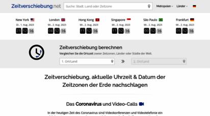 zeitverschiebung.net - zeitzonenrechner: zeitverschiebung uhrzeit in zeitzonen online berechnen