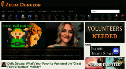 zeldadungeon.net - zelda dungeon - legend of zelda walkthroughs, news, guides, videos, music, media, and more