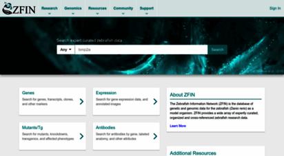 zfin.org - zfin the zebrafish information network