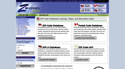 zip-codes.com - zip code database list & canadian postal code listings