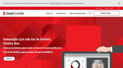 ziraatemeklilik.com.tr - ana sayfa - ziraat hayat ve emeklilik a.ş.
