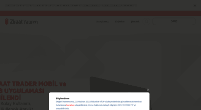 similar web sites like ziraatyatirim.com.tr