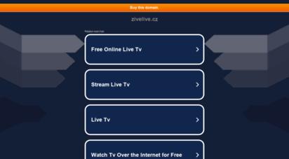 zivelive.cz - žive live - živé přenosy na internetu