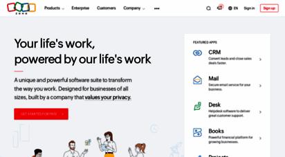 zoho.com - zoho - cloud software suite and saas applications for businesses
