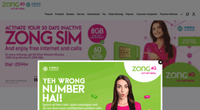 zong.com.pk - zong 4g pakistan  telecommunications  4g in affordable price